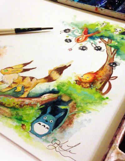 Watercolor Hayao Miyazaki
